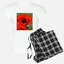 Beautiful Red Poppy Pajamas