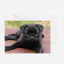 ALERT PUG PUPPY Greeting Card