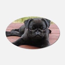 ALERT PUG PUPPY Wall Decal