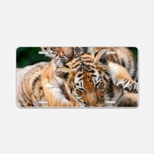BABY TIGERS Aluminum License Plate