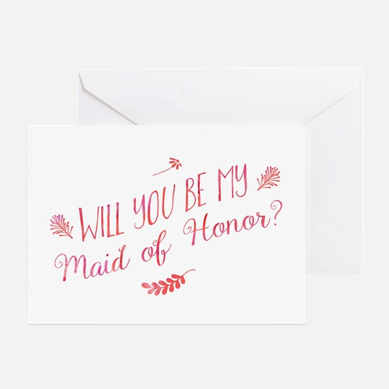 Will You Be My Maid of Honor Greeting Cards