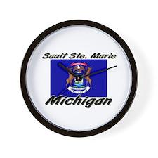 Sault Ste. Marie Michigan Wall Clock