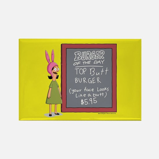 Bob's Burgers Burger of the Day Rectangle Magnet