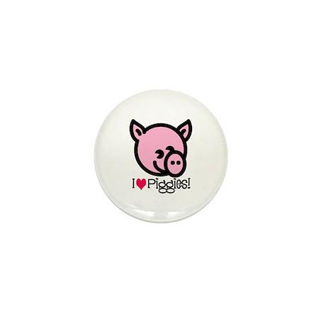 I Love Piggies! Mini Button