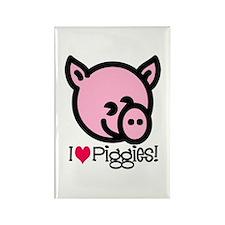 I Love Piggies! Rectangle Magnet