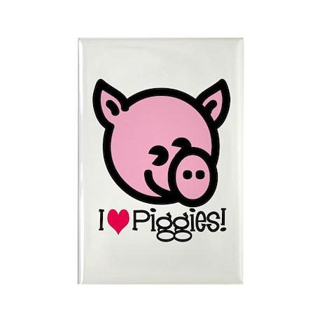 I Love Piggies! Rectangle Magnet (10 pack)