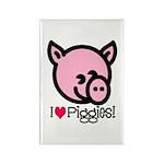 I Love Piggies! Rectangle Magnet (100 pack)