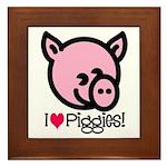 I Love Piggies! Framed Tile