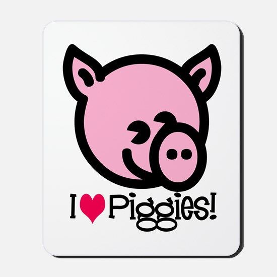I Love Piggies! Mousepad