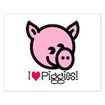 I Love Piggies! Small Poster