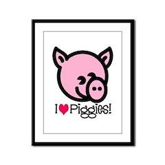 I Love Piggies! Framed Panel Print