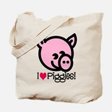 I Love Piggies! Tote Bag