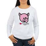 I Love Piggies! Women's Long Sleeve T-Shirt
