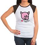 I Love Piggies! Women's Cap Sleeve T-Shirt