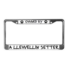 Owned by a Llewellin Setter License Plate Frame