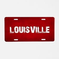LOUISVILLE Aluminum License Plate