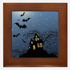 Halloween House Framed Tile