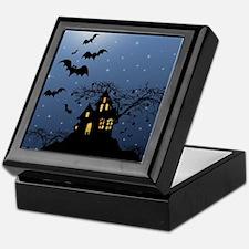 Halloween House Keepsake Box