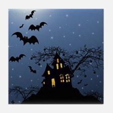 Halloween House Tile Coaster