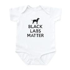 Vintage Black Labs Matter Infant Bodysuit