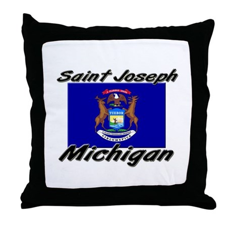Saint Joseph Michigan Throw Pillow
