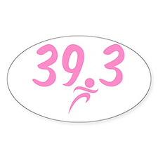 Pink 39.3 Run Walk Decal
