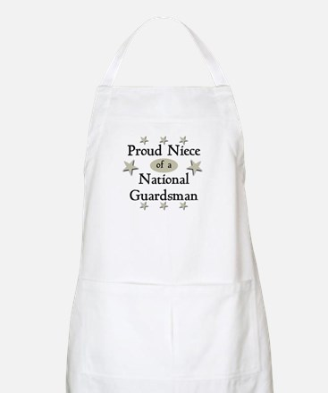 Proud Niece National Guard BBQ Apron