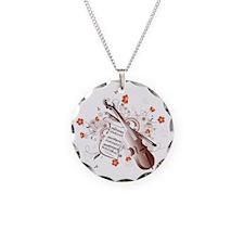Floral Violin Necklace