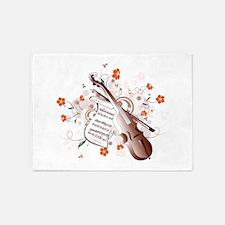 Floral Violin 5'x7'Area Rug