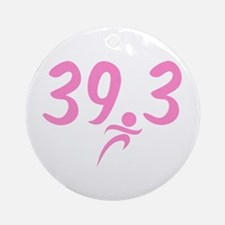 Pink 39.3 Run Walk Round Ornament