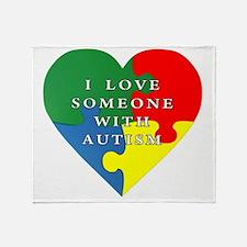 Cute Autism awareness Throw Blanket