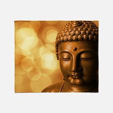 Cute Buddhism Throw Blanket
