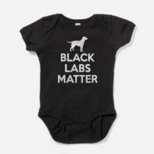 Black Labs Matter (white) Baby Bodysuit