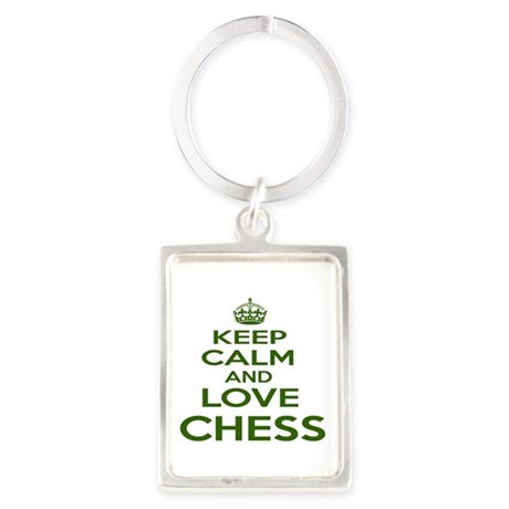 Keep calm and love Chess Portrait Keychain