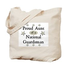 Proud Aunt National Guard Tote Bag