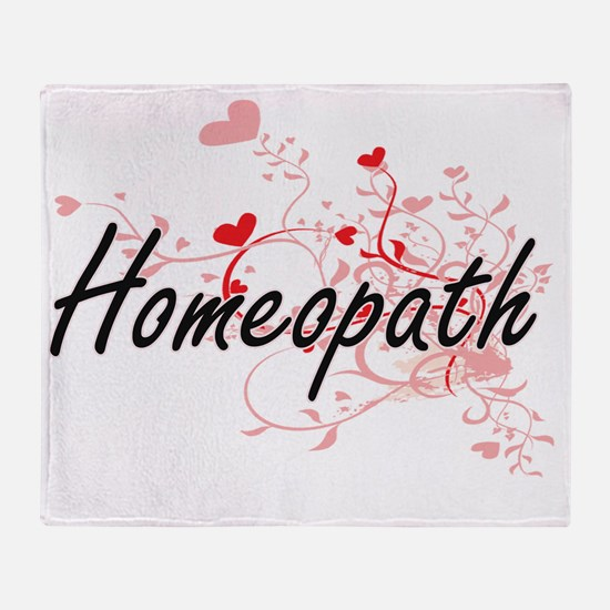 Homeopath Artistic Job Design with H Throw Blanket