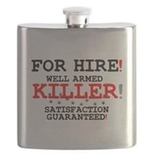 KILLER FOR HIRE! Flask