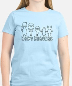 Bob's Burgers Family Outline T-Shirt