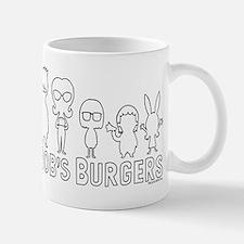 Bob's Burgers Family Outline Small Mugs