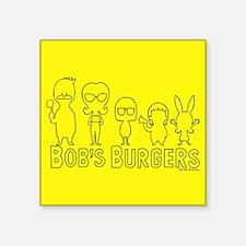 "Bob's Burgers Family Outlin Square Sticker 3"" x 3"""
