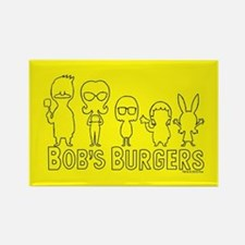 Bob's Burgers Family Outline Rectangle Magnet