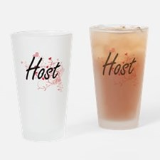 Host Artistic Job Design with Heart Drinking Glass