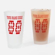Game Day Red Drinking Glass