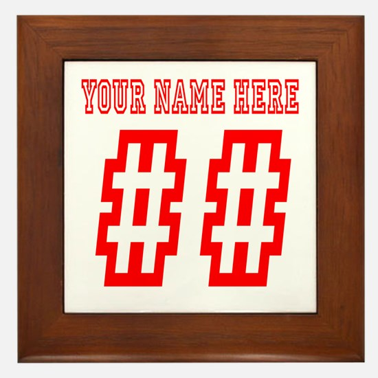 Game Day Red Framed Tile