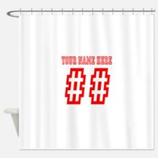 Game Day Red Shower Curtain
