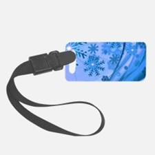 Winter Snowflakes Luggage Tag