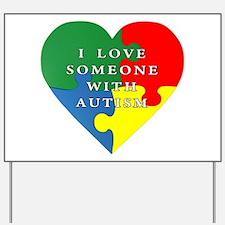 Autism Love Yard Sign