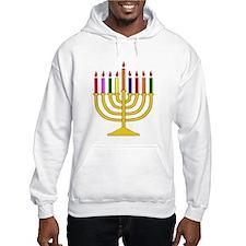Hanukkah Menorah - (hoodie) Hoodie
