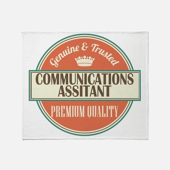 communications assistant vintage log Throw Blanket