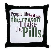 Pills Throw Pillow